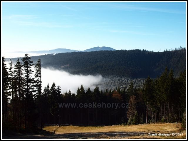 Šumava - vrchol Špičák - pohled na Velký Javor