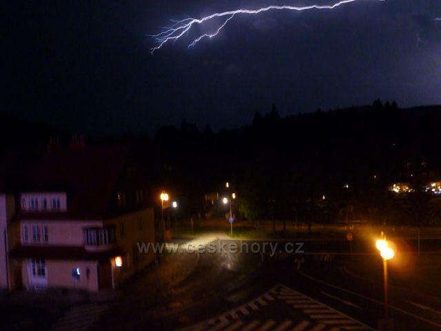 Bouřka ve Špindlu 2011