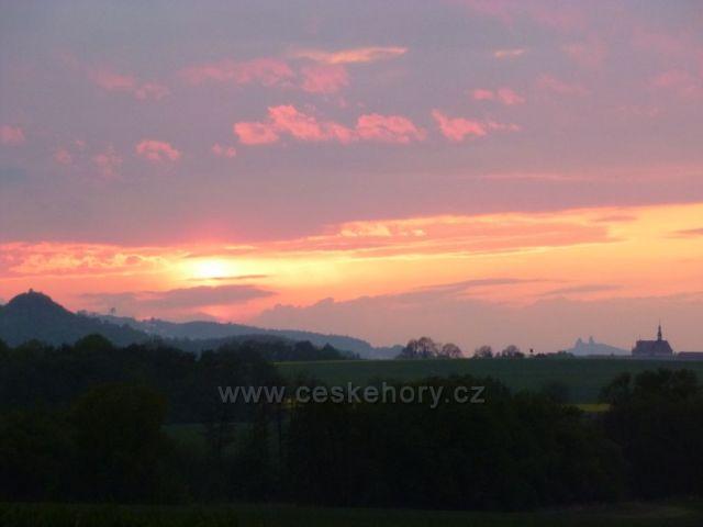 Západ Slunce nad Českým rájem 2011