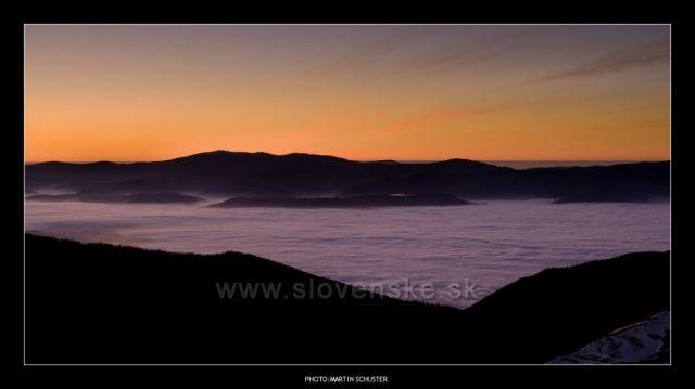 Roháče,pohled z Plačlivého na Kraľovu Hoľu(listopad 2011)