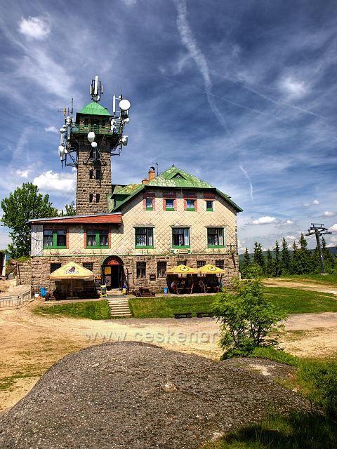 Tanvaldský Špičák - 831m nad mořem, postavena v roce 1909.