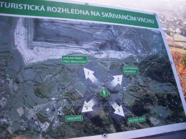Rozhledna na Skřivánčím vrchu Málkov - Zelená - informační tabule