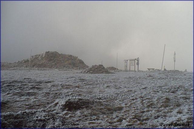 Podzim na vrcholu Králického Sněžníku