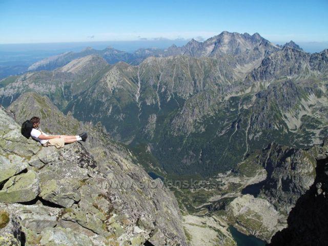 Vysoké Tatry, pohled z vrcholu Rysy