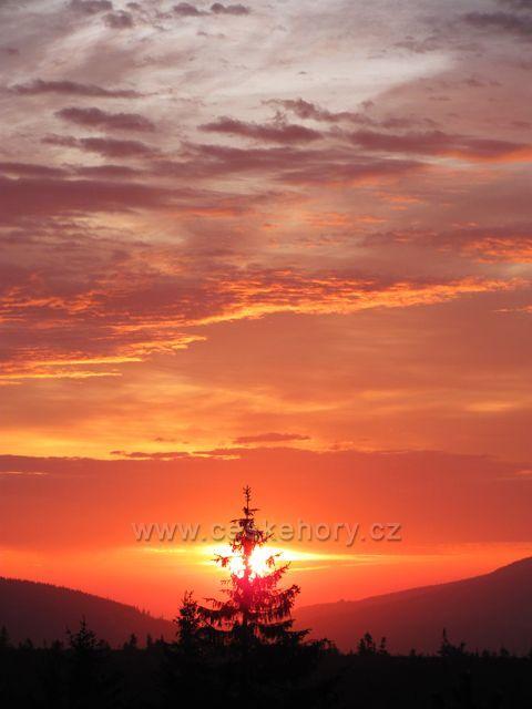 východ slunce U Čtyř pánů