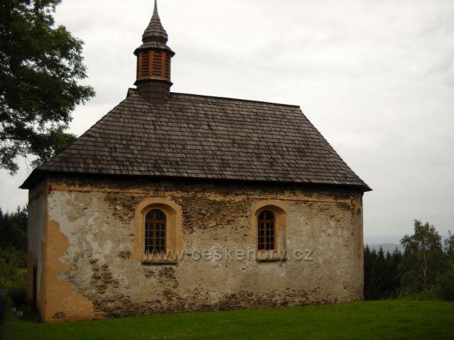 okolí Zelené Lhoty - kaple sv. Kunhuty