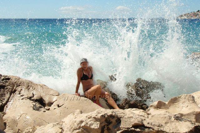 Osprchovaná mořem