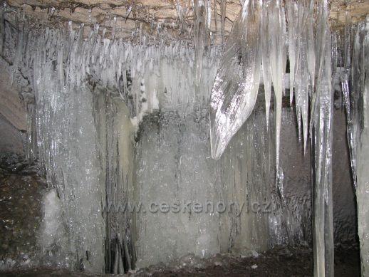 Ledový list v Jeskyni víl