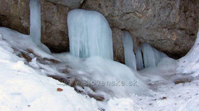 ledové kaskády v Janošíkových dierach