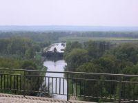 pohled na soutok Labe a Vltavy