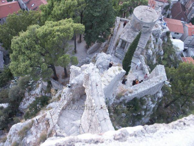 OMIŠ- Pohľad z pevnosti