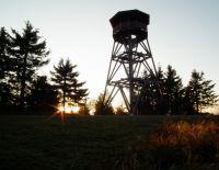 Západ slunce na Anenském vrchu