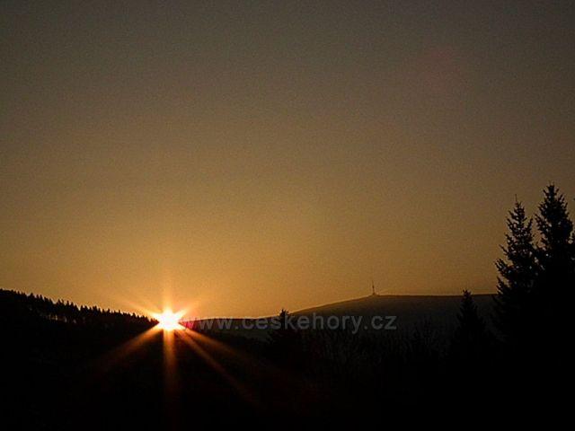 Východ slunce u Pradědu