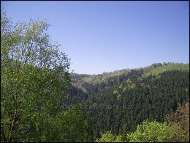 Pohled na Suchdol ze Sokolího hnízda
