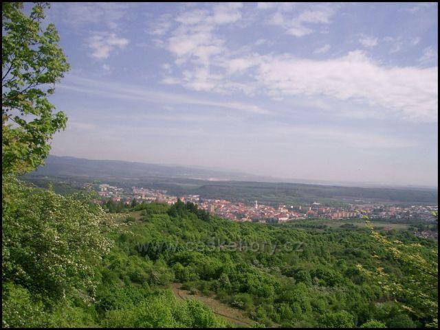 pohled z Úhoště na Kadaň