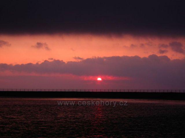 Dlouhé Stráně-západ slunce