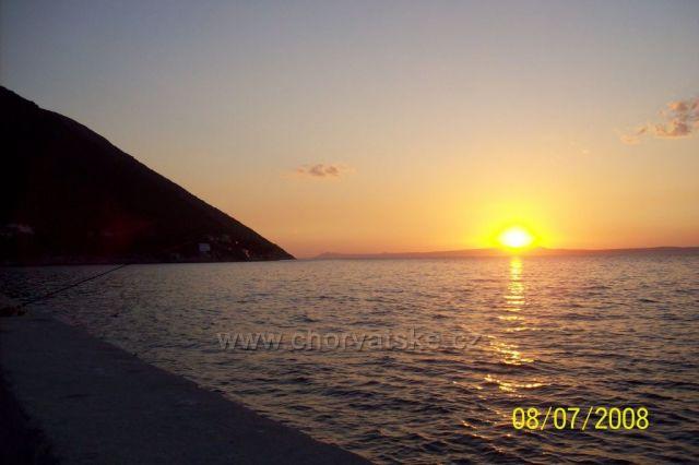 západ slunce Trpanj