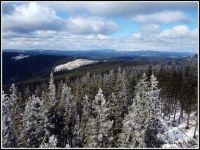 Šumava - vrchol Boubín 1362 m.n.m směrem na Luzný a Roklany