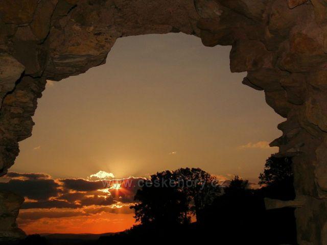Ráno na hradě Lanšperk