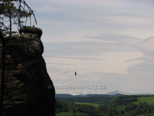Pohled na Krkonoše z Adršpachu