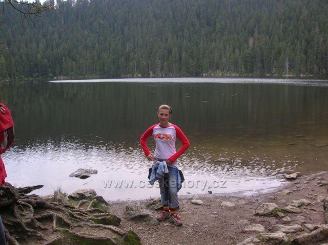 Černé jezero na Šumavě - zasloužené foto na památku.