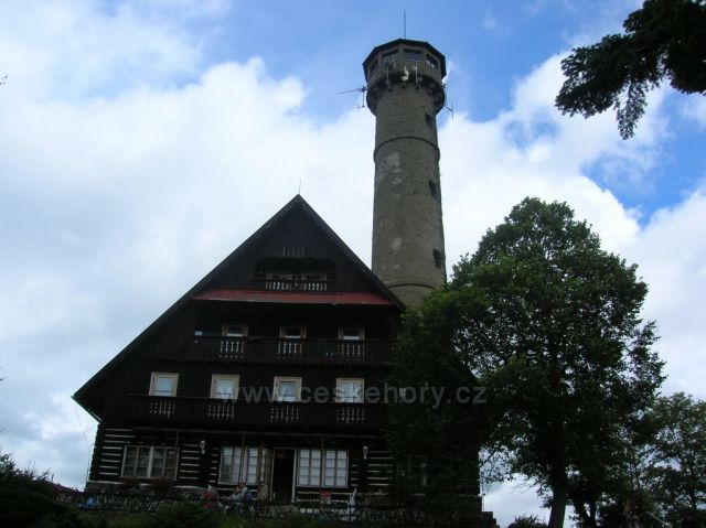 Horská chata Svatobor u Sušice - nádherný výhled.