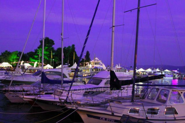 Noční přístav Crikvenica
