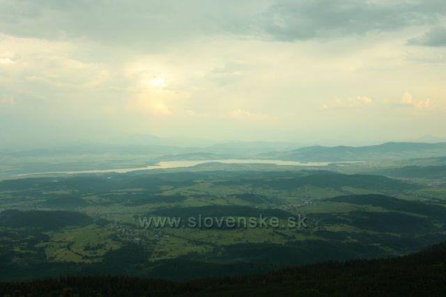 Panorama z Babi hory m.j.vodní nádrž Orava