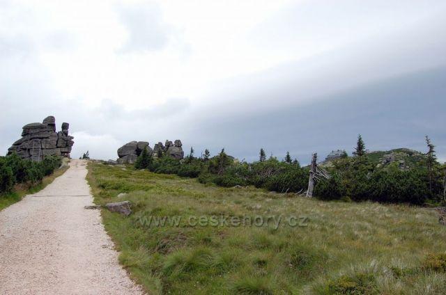 pohled na chatu Szrenica