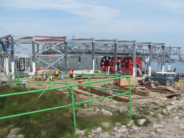 staveniště nové lanovky na Chopku