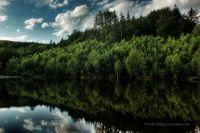 Pozdní odpoledne na krásné přehradě Naděje