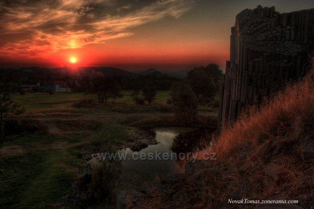 Západ slunce na Panské skále