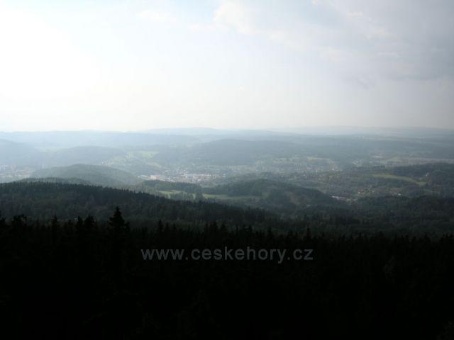 Pohled na Krušné hory