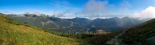 ranní výhled k Vysokým Tatrám