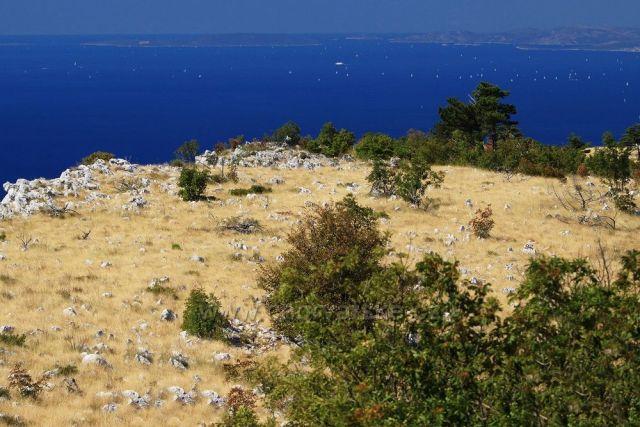 pohled z náhorní plošiny Mosor nad Omišem