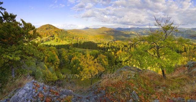 Lužické hory ze Zlatého vrchu