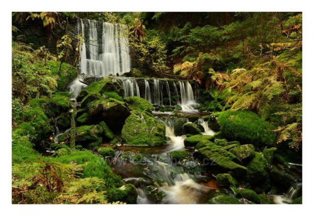 Černohorský potok-horní kaskáda