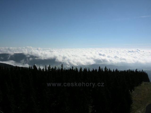 Inverze z lanovky na Černou horu