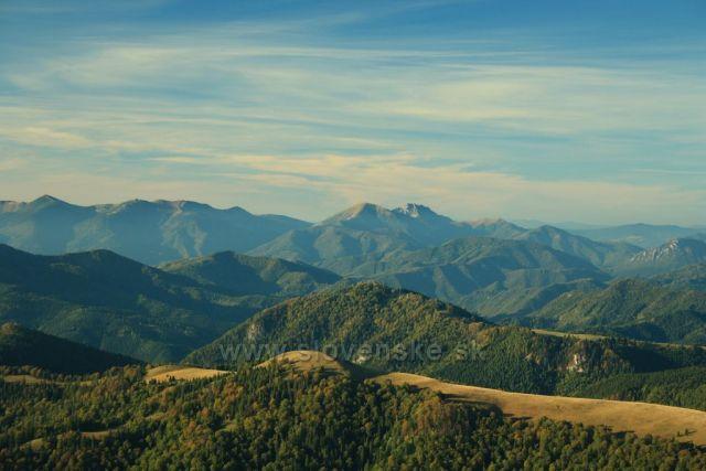 Panorama hřebene Malé Fatry z Rakytova