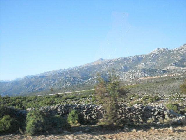 hory z pohledu z auta