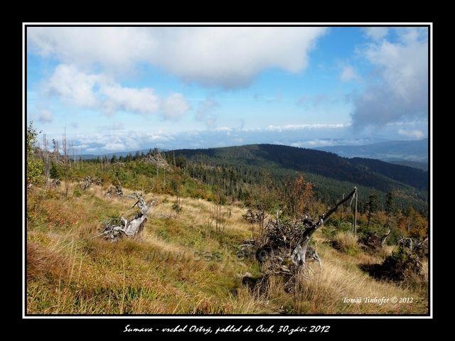 Pohled z Ostrého do Čech