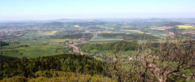 Pohled z Luže na Dolní Podluží