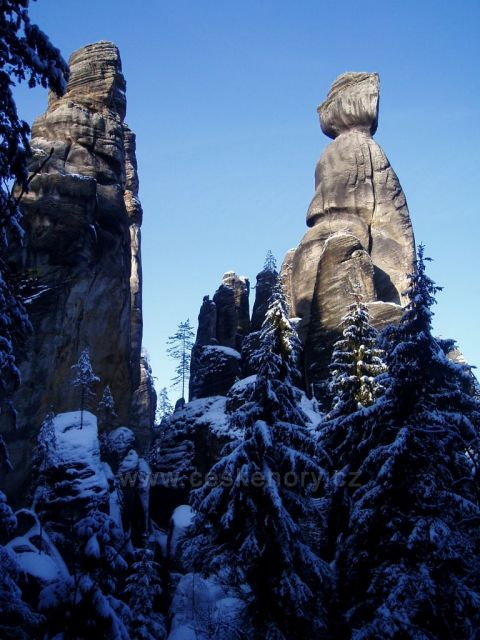 Adršpach - zima  Starosta a Starostová