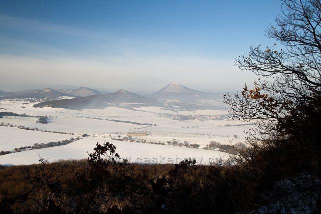 Zimní výhled z Boreče