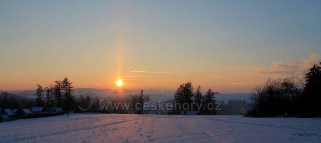 Západ slunce na Rýmařovsku