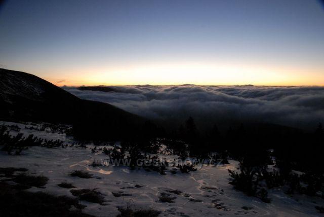 východ slunce nad Výrovkou