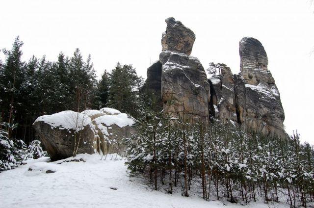 Hruboskalsko v zimě