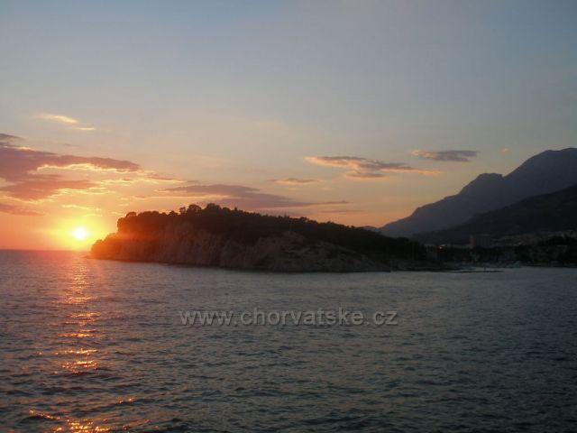 Západ slunce Makarska