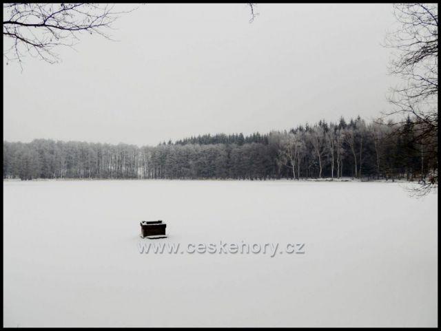 Ovčí rybník u obory Červený Hrádek.