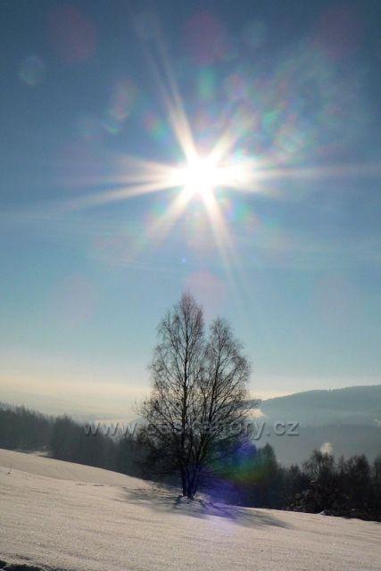 Zimní den, Zelená hora, Kraslice